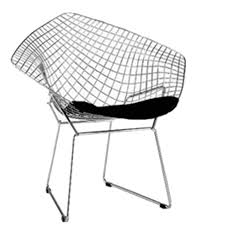 White Wire Chair Fine Mod Imports Bertoia Style Wire Diamond Chair