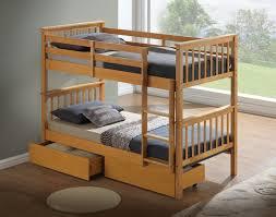 Three Sleeper Bunk Bed New Bunk Bed U2013 Beech Hardwood Drawers Optional The Artisan Bed