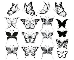 butterfly flower tattoo designs free small templates tattoos