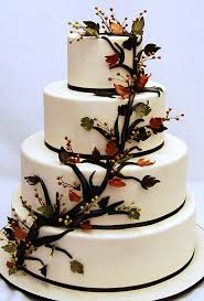themed wedding cakes fall themed cakes a wedding cake