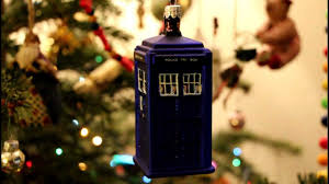 doctor who tardis tree decoration glass bauble
