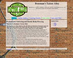 bozeman u0027s tattoo alley paydirt design u0027s portfolio of web site