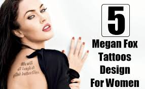 5 best megan fox tattoos that a can try style presso