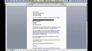 Types Of Business Letters And by How To Write A Business Letter Youtube