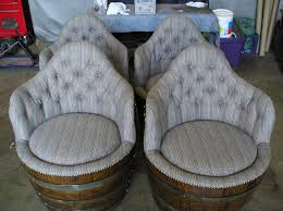 wine barrel chairs from sew creative upholstery inc in turlock