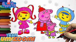 team umizoomi and peppa pig coloring book episode 18 peppa pig