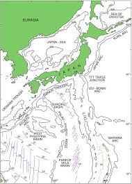 Map Of Okinawa Japanese Island Arc And The Japan Sea In Relation To The Main