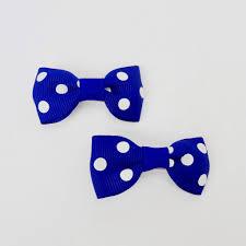 ribbon hair bow set of 2 small cross grain ribbon hair bow 1 75 royal