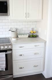 ikea backsplash kitchen makeover with white ikea kitchen cabinets subway tile
