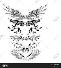 ornaments eagle wing silhouette vector photo bigstock