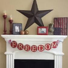 83 best 4th of july mantels images on pinterest fireplace