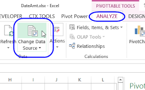 how to update pivot table excel pivot table source data