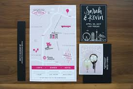 vegas wedding invitations modern diy las vegas wedding invitations types