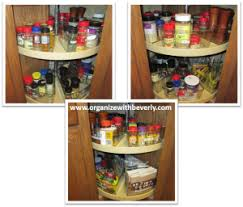 how to organize a lazy susan cabinet lazy susan cabinet binz organize with beverly llc