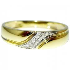 two tone mens wedding bands diamond mens wedding band ring 10k gold 0 05ct 5 5mm wide new two tone