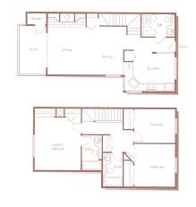 Briarwood Homes Floor Plans Two And Three Bedroom Bellevue Townhomes Somerset Green