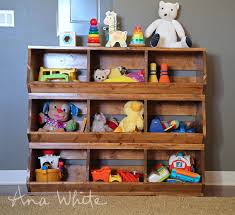 Woodworking Plans Toy Storage by Ana White 1x12 Wood Bulk Bins Diy Projects