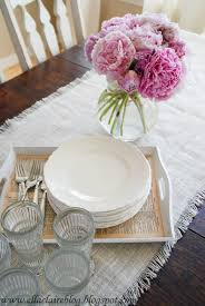 tutorial pottery barn burlap table runner with edges