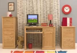 Single Desk Design Conran Solid Oak Modern Furniture Small Single Pedestal Office Pc