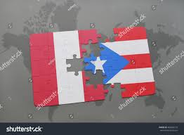 Puerto Rico On World Map by Puzzle National Flag Peru Puerto Rico Stock Illustration 460920193