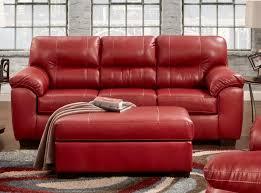 Affordable Furniture Austin Red Sofa  Loveseat Set  Savvy - Sofa austin 2