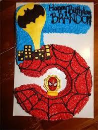 kek afrina spiderman number 5 cake cakes pinterest
