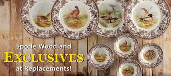 exclusive spode woodland dinnerware at replacements ltd
