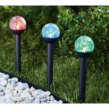 Solar Powered Landscape Lights Mainstays Crackle Solar Powered Landscape Light