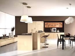 comptoir separation cuisine salon cuisine salon pas cher 14 avec ilot et bar sur table arrondi