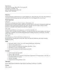 delivery driver sample resume delivery driver combination resume