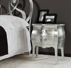 comodini foglia argento comodino argento foglia o bianco lucido in legno maggioni silver