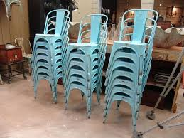 Blue Bistro Chairs Set Of 100 Vintage Tolix A Chairs In Blue Paint Sold