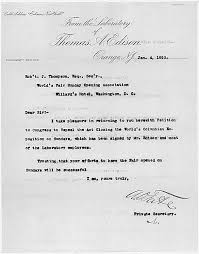 petition signed by thomas a edison for sunday openings at the