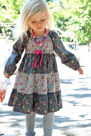 astra peasant dress sewing pattern for girls kids 5berries