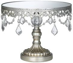 cake stand antique silver beaded small cake stand gift