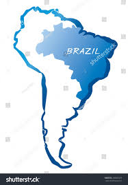 Map Equator South America by South America Contoured Map Highlighted Brazil Stock Vector South