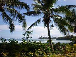 file samoa scenic coastline with palm trees foreground 1 jpg