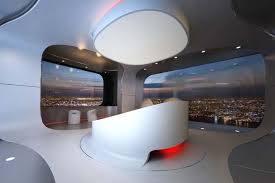 Bedroom Design For Luxury Penthouse - Futuristic bedroom design