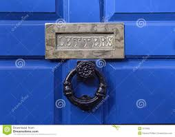 front door letter box stock photo image of blue period 3670082