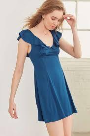 kimchi blue daisy may blue ruffle dress urban outfitters