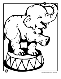 circus elephant coloring coloring