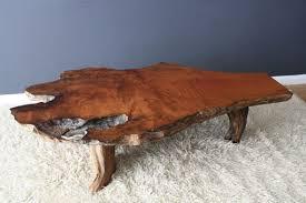 vintage wood coffee table attractive burl wood coffee table vintage mid century burl wood slab