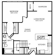 sunroom floor plans 2 bed 2 bath apartment in bethesda md the montgomery apartments