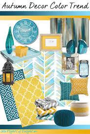 Trending Colors For Home Decor Autumn Decor Color Trend Mood Board Teal U0026 Mustard Via