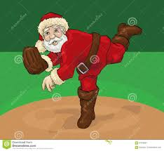 santa claus pitching stock illustration image 97816964