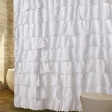 Gray Ruffle Shower Curtain Changing Ruffle Shower Curtain In A Window Curtain
