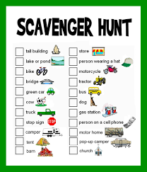 scavenger hunt ideas lists and planning cars animal and road trips
