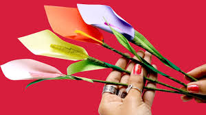 how to make lily paper flower diy paper crafts silly kids