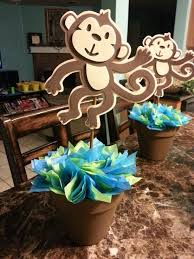 baby shower centerpieces ideas creative monkey baby shower decorations h56 for your home remodel