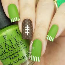 football inspired nails nfl nba and other sports related party
